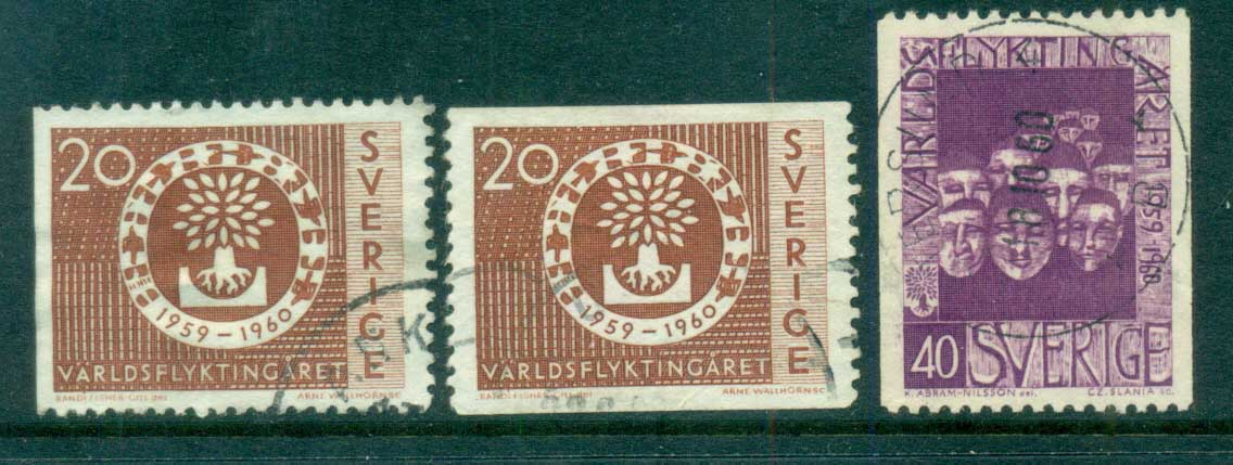 Sweden 1960 World Refugee Year FU lot83831
