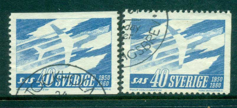 Sweden 1961 Scandinavian Airlines FU lot83836