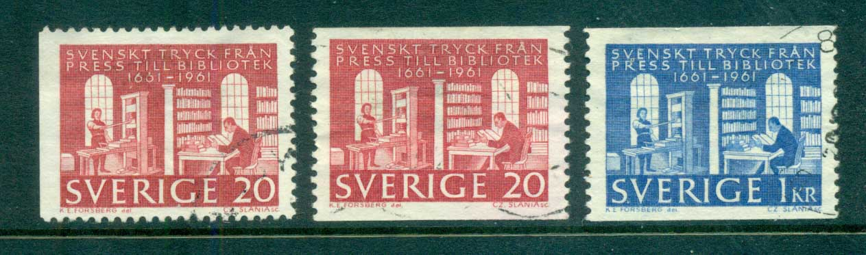Sweden 1961 Royal Library FU lot83838