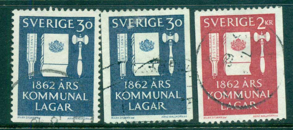 Sweden 1962 Municipal Reform Laws FU lot83840