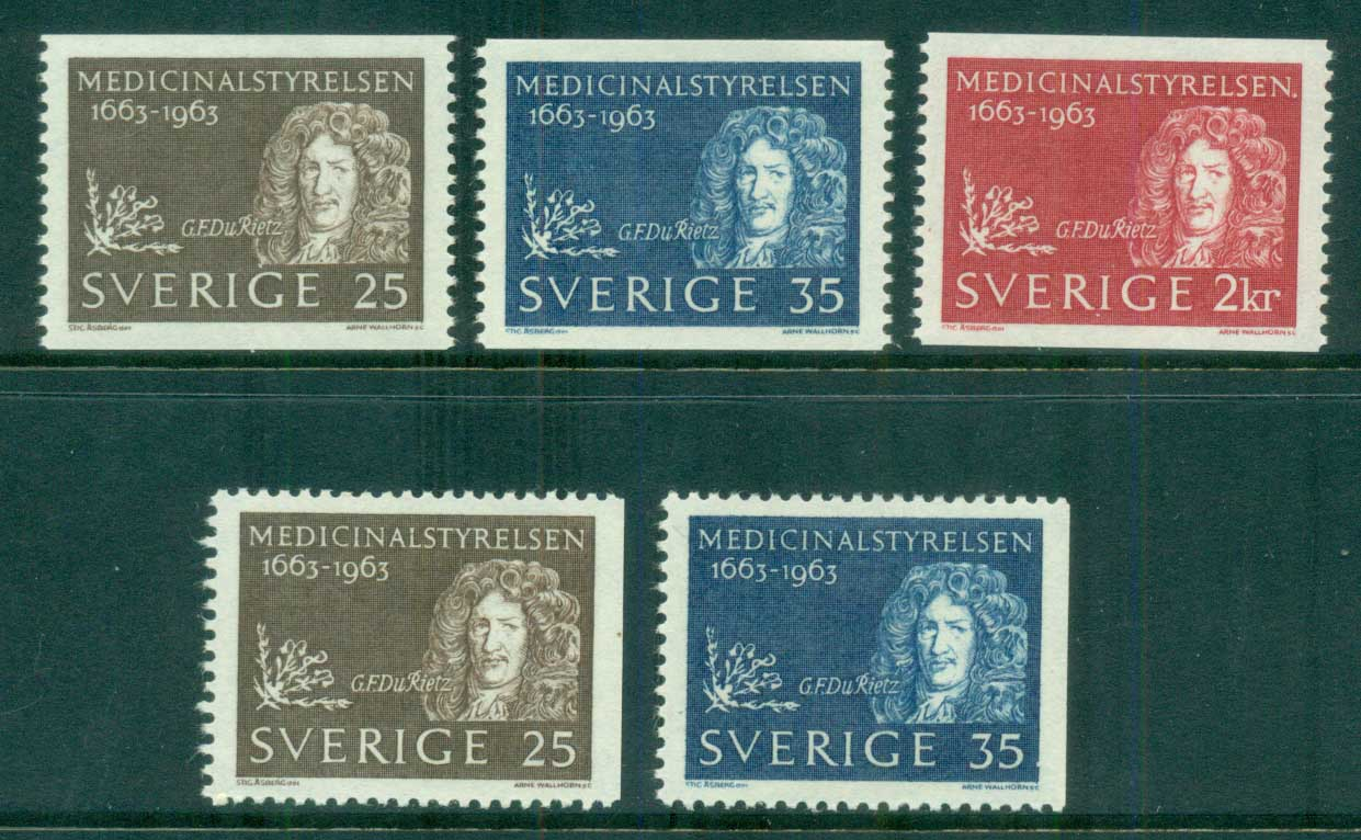 Sweden 1963 Board of Health MLH lot83844