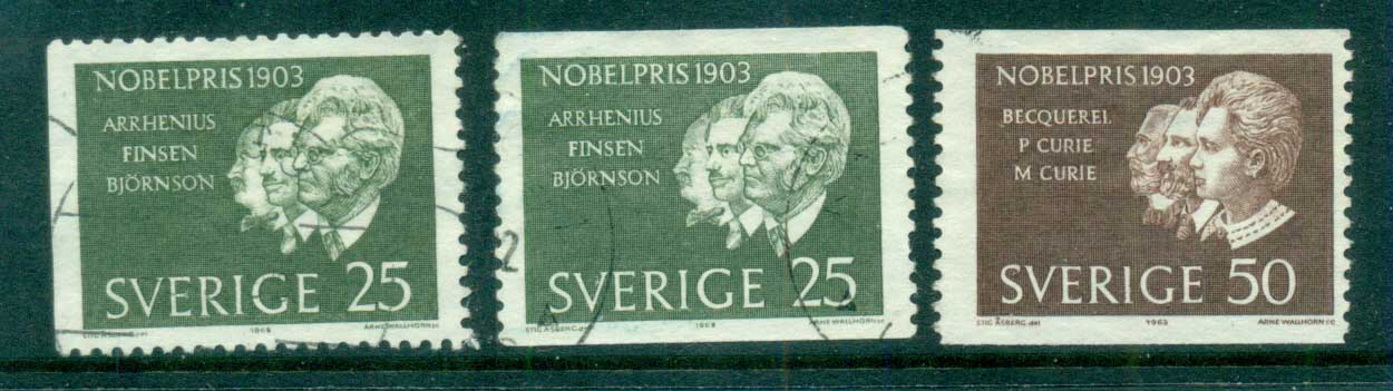 Sweden 1963 Nobel Prize Winners FU lot83845