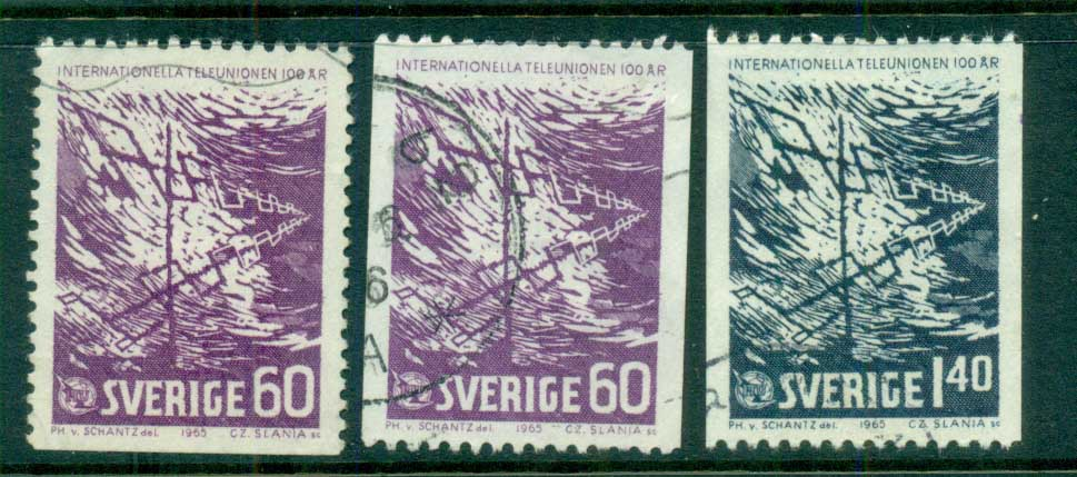 Sweden 1965 ITU Centenary FU lot83849