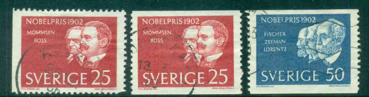 Sweden 1962 Nobel Prize Winners FU lot83852