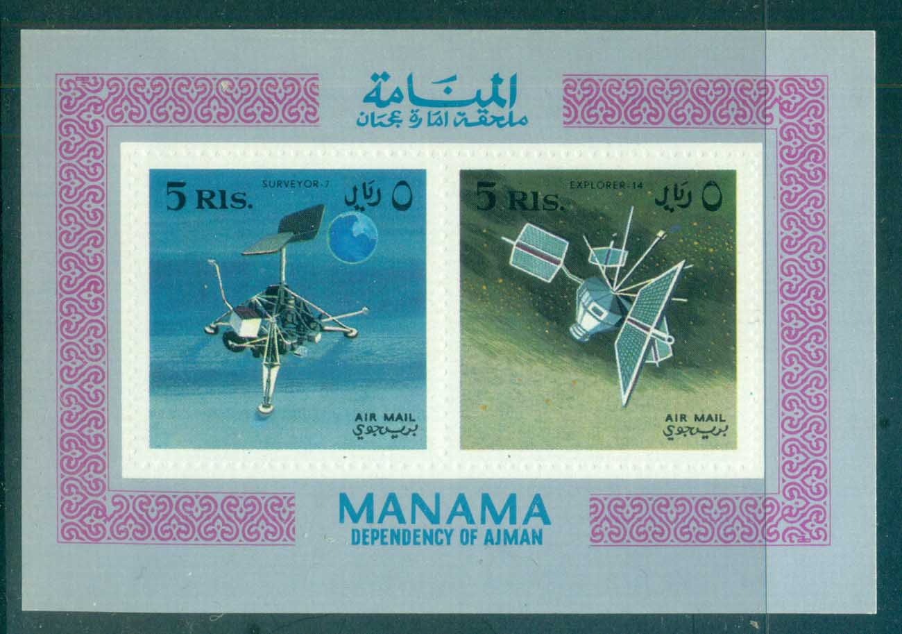 Manama 1968 Space Achievements IMPERF MS MUH lot84478