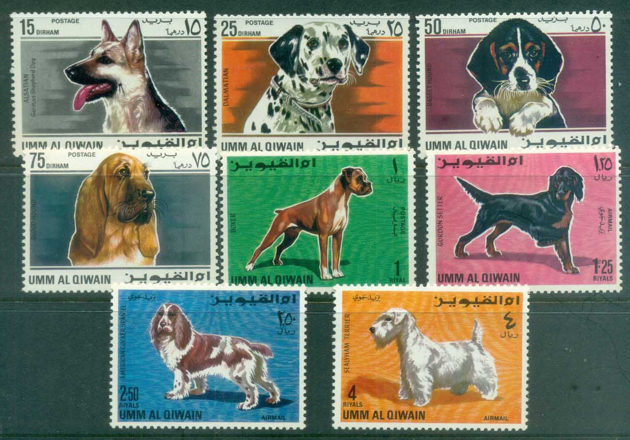 Umm al Qiwain 1967 Dogs MUH lot84649
