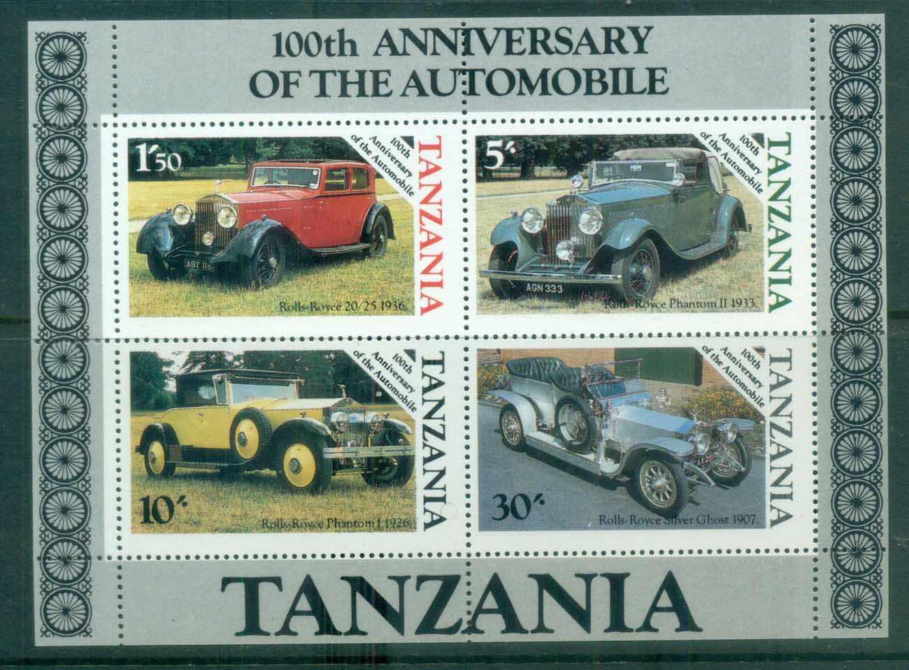 Tanzania 1986 Automobile Centenary MS lot84781