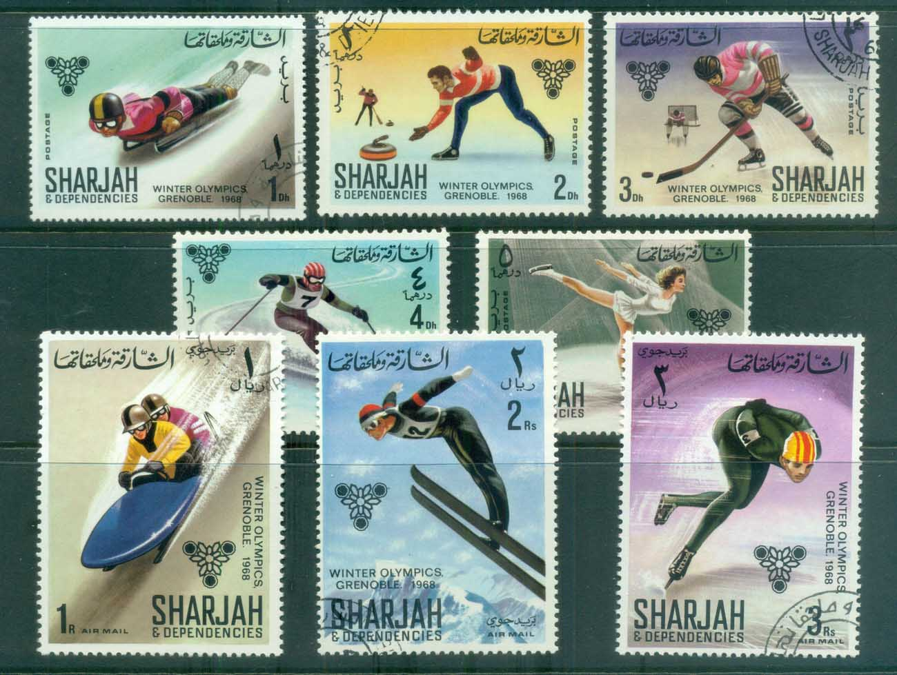 Sharjah 1968 Grenoble Winter Olympics CTO