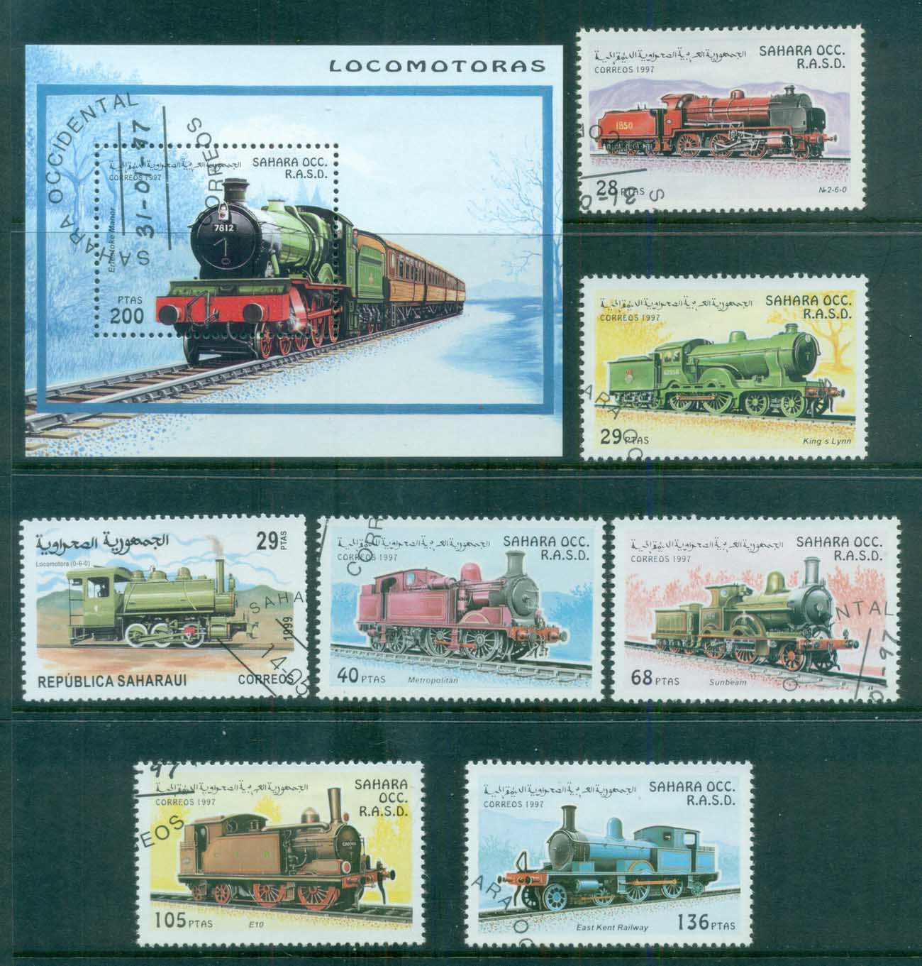 Sahara Occidental 1997 Trains, Railways + MS CTO