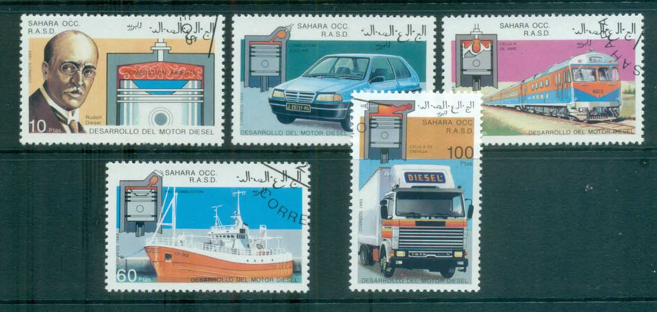 Sahara Occidental 1993 Transport, Ship, Train Cars CTO