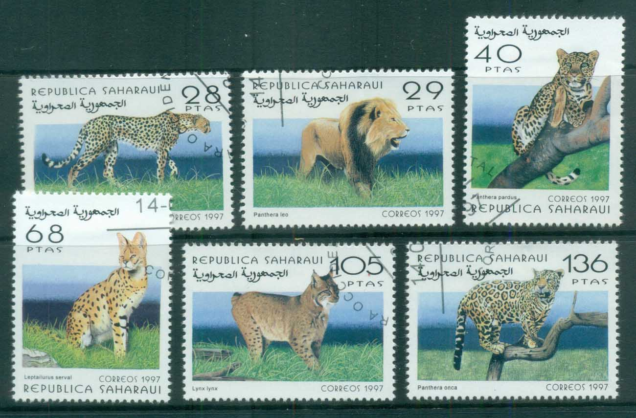 Sahara Occidental 1997 Big Cats, Lion, Cheetah CTO