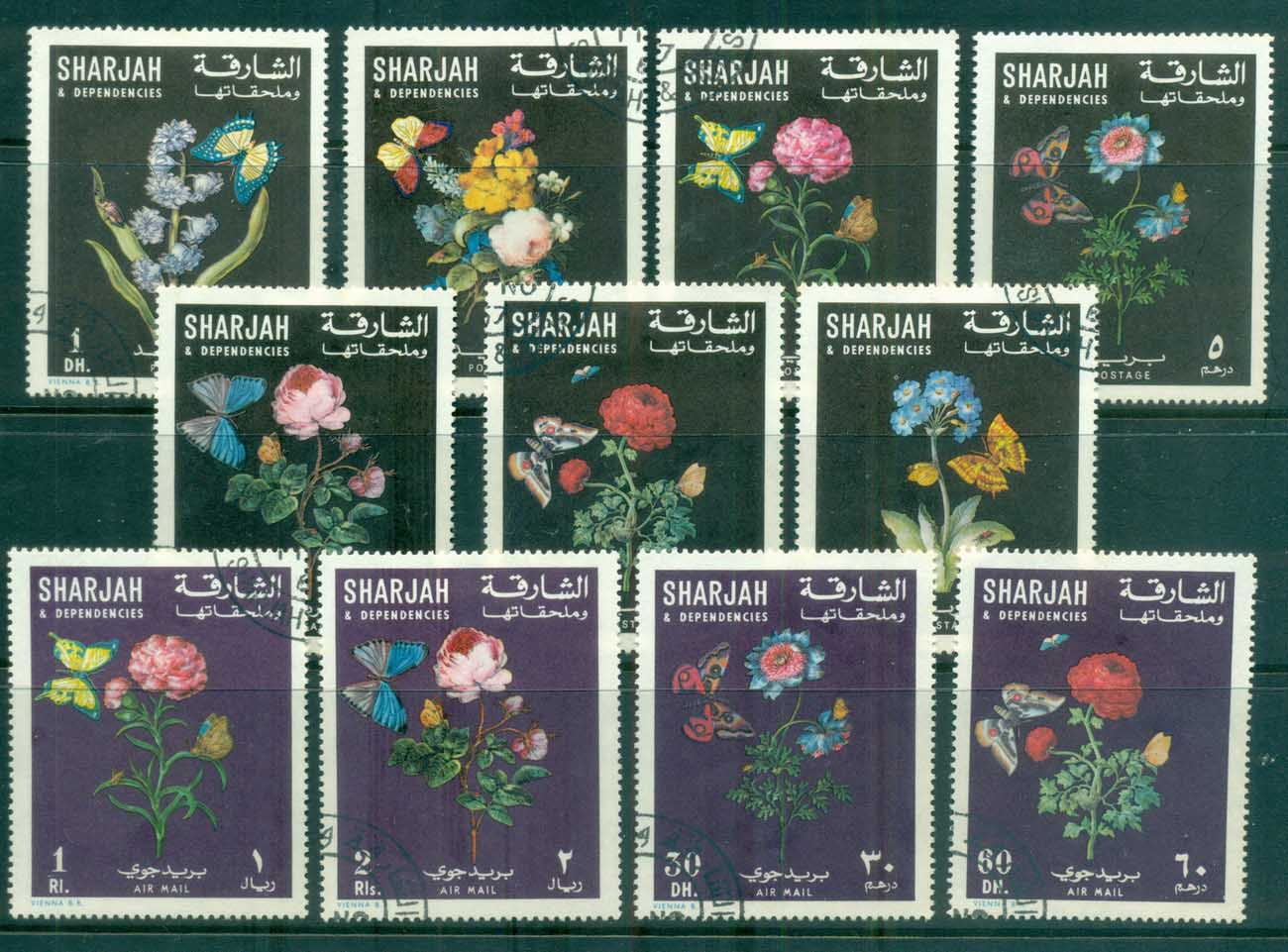 Sharjah 1967 Flowers & Butterflies CTO