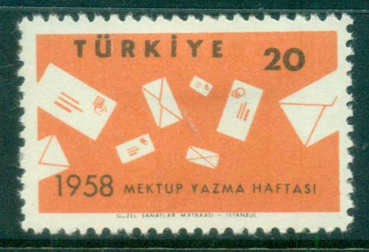 Turkey 1958 Letter Writing Week MLH