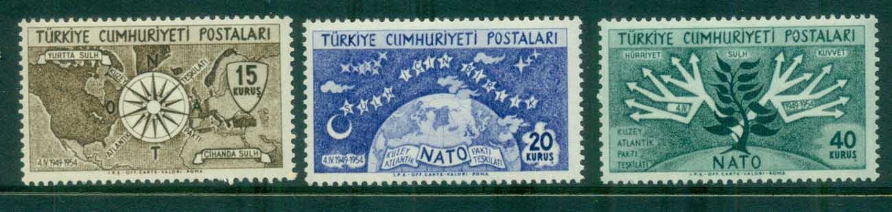 Turkey 1952 NATO 5th Anniv. MUH