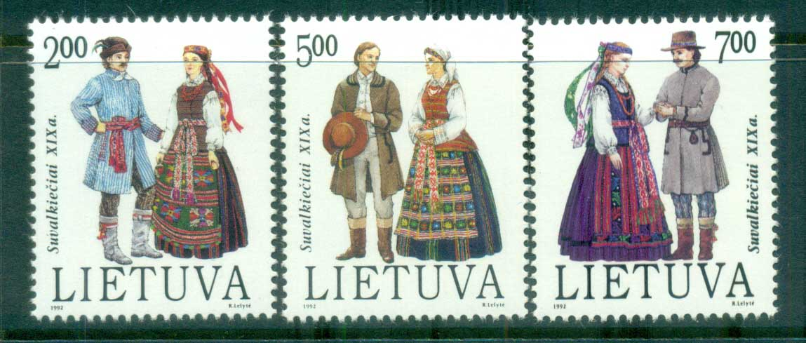 Lithuania Traditional Costumes of Suwalki Region