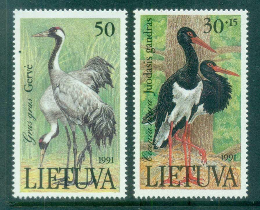 Lithuania 1991 Storks MUH