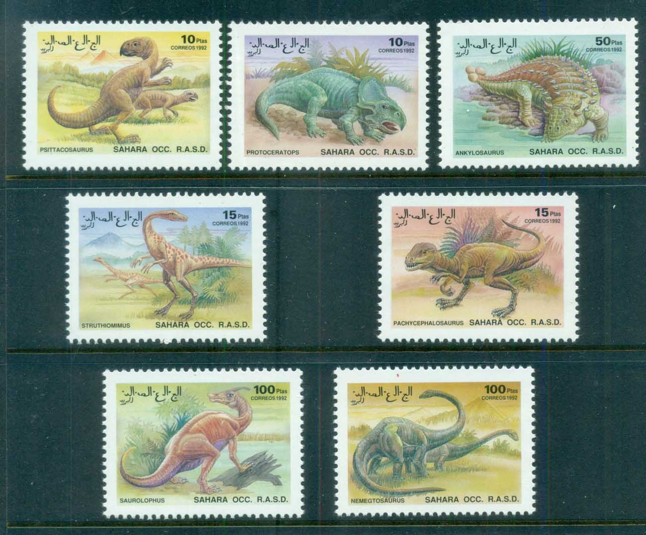 Sahara Occidental 1992 Dinosaurs MUH