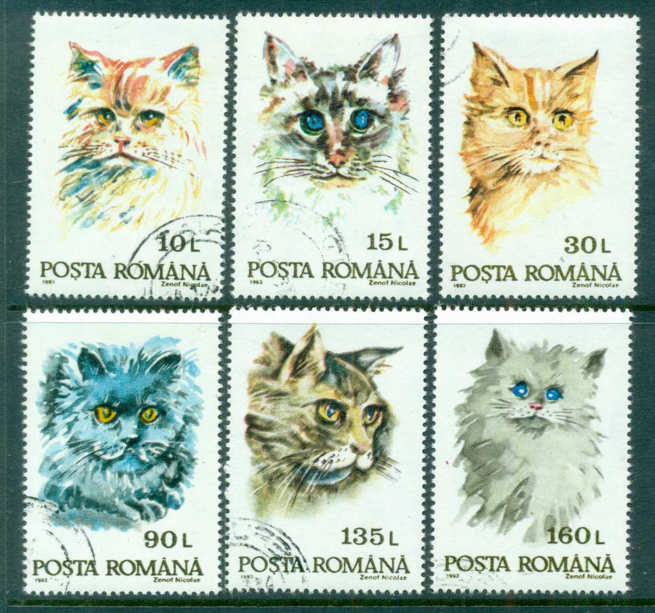 Romania 1993 Cats CTO