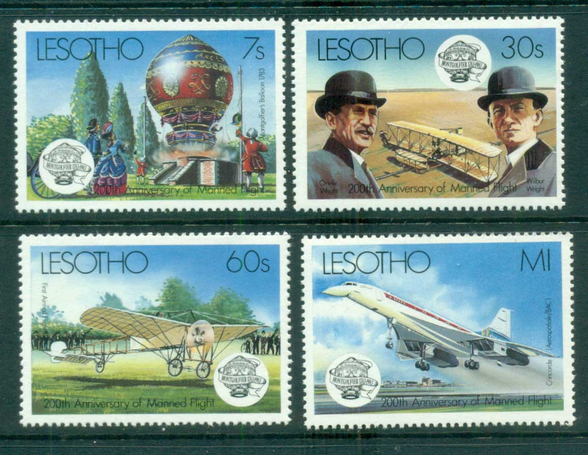 Lesotho 1983 Manned Flight Bicentenary MUH