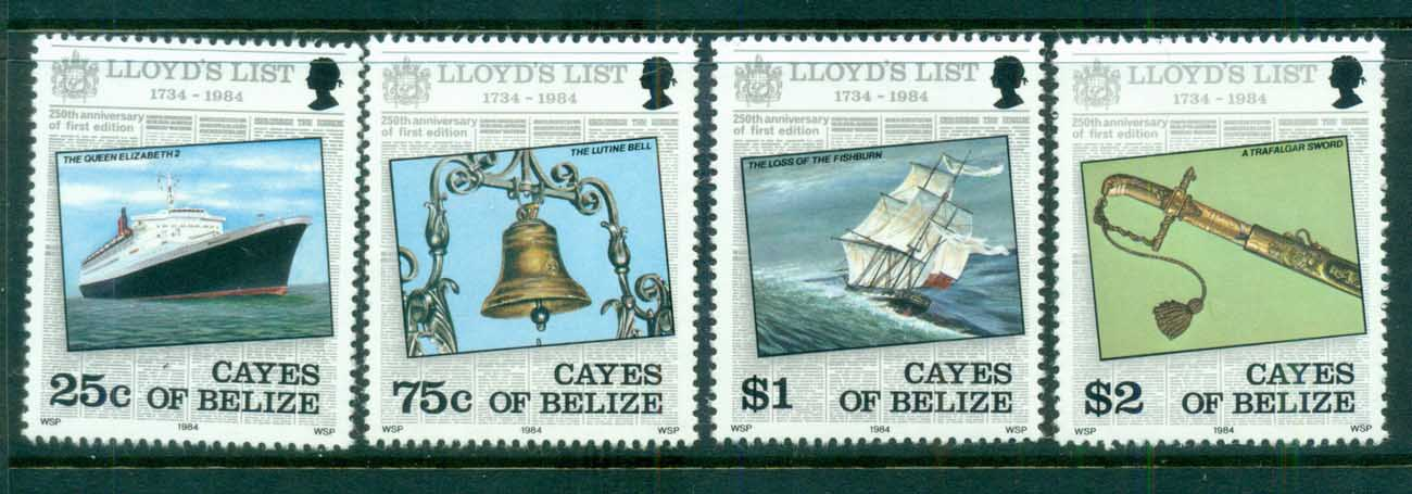 Cayes of Belize 1984 Lloyd's List MUH