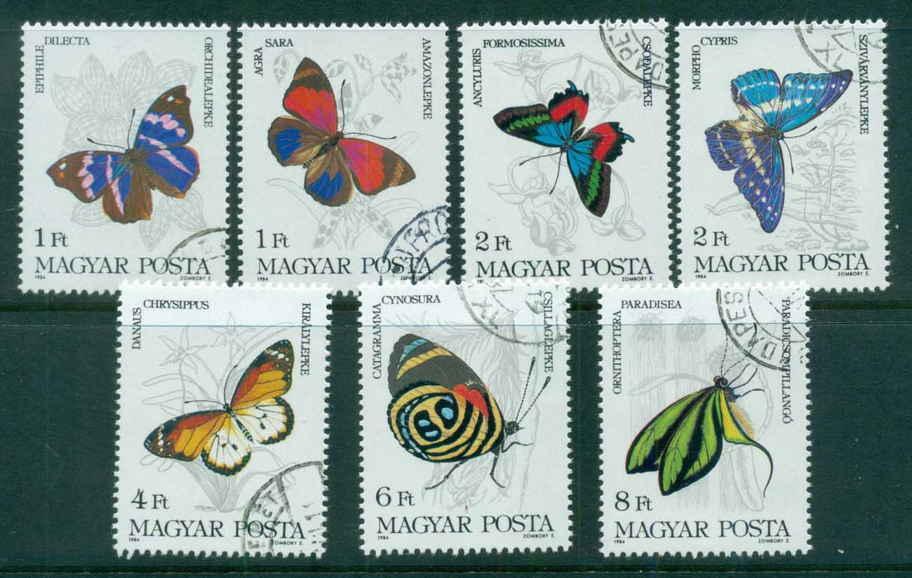 Hungary 1984 Insects, Butterflies CTO