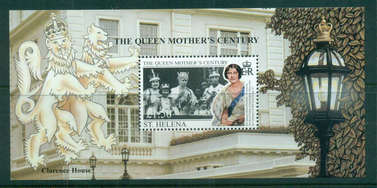St Helena 1999 Queen Mother's Century, Royalty MS MUH