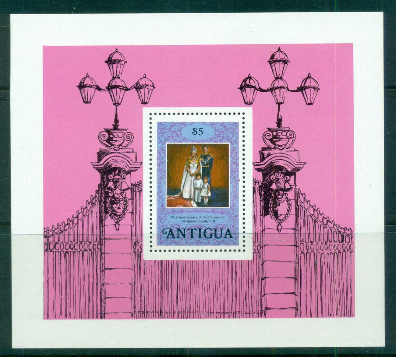 Antigua 1978 QEII Coronation, 25th Anniversary, Royalty MS MUH