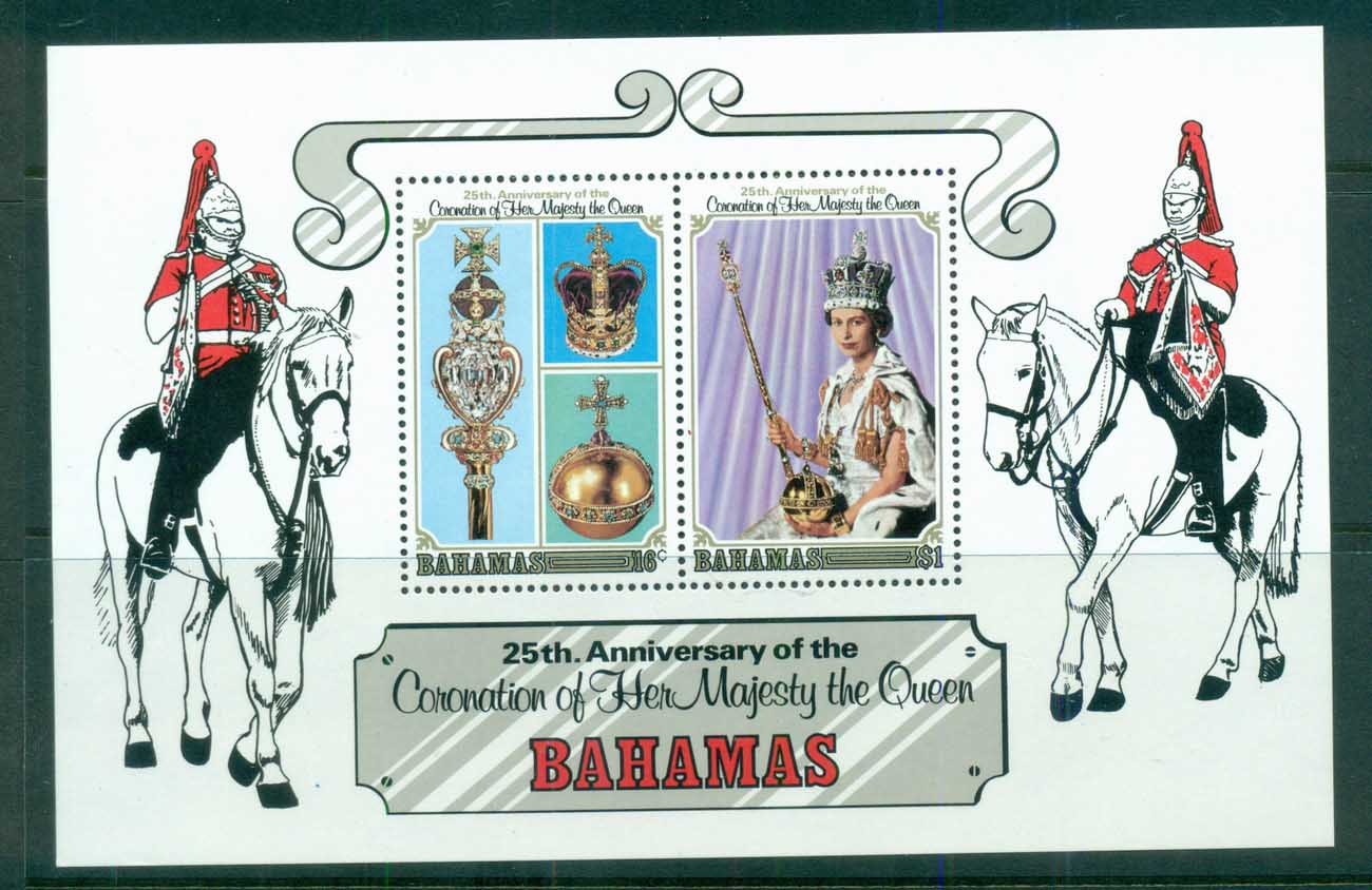 Bahamas 1978 QEII Coronation, 25th Anniversary, Royalty MS MUH