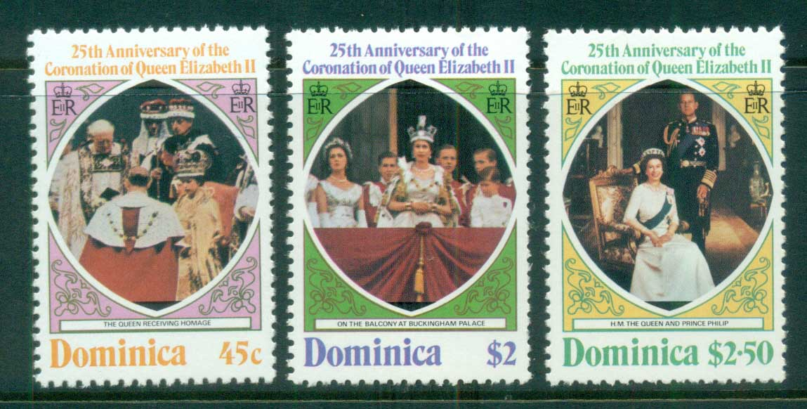 Dominica 1978 QEII Coronation, 25th Anniversary , Royalty MUH