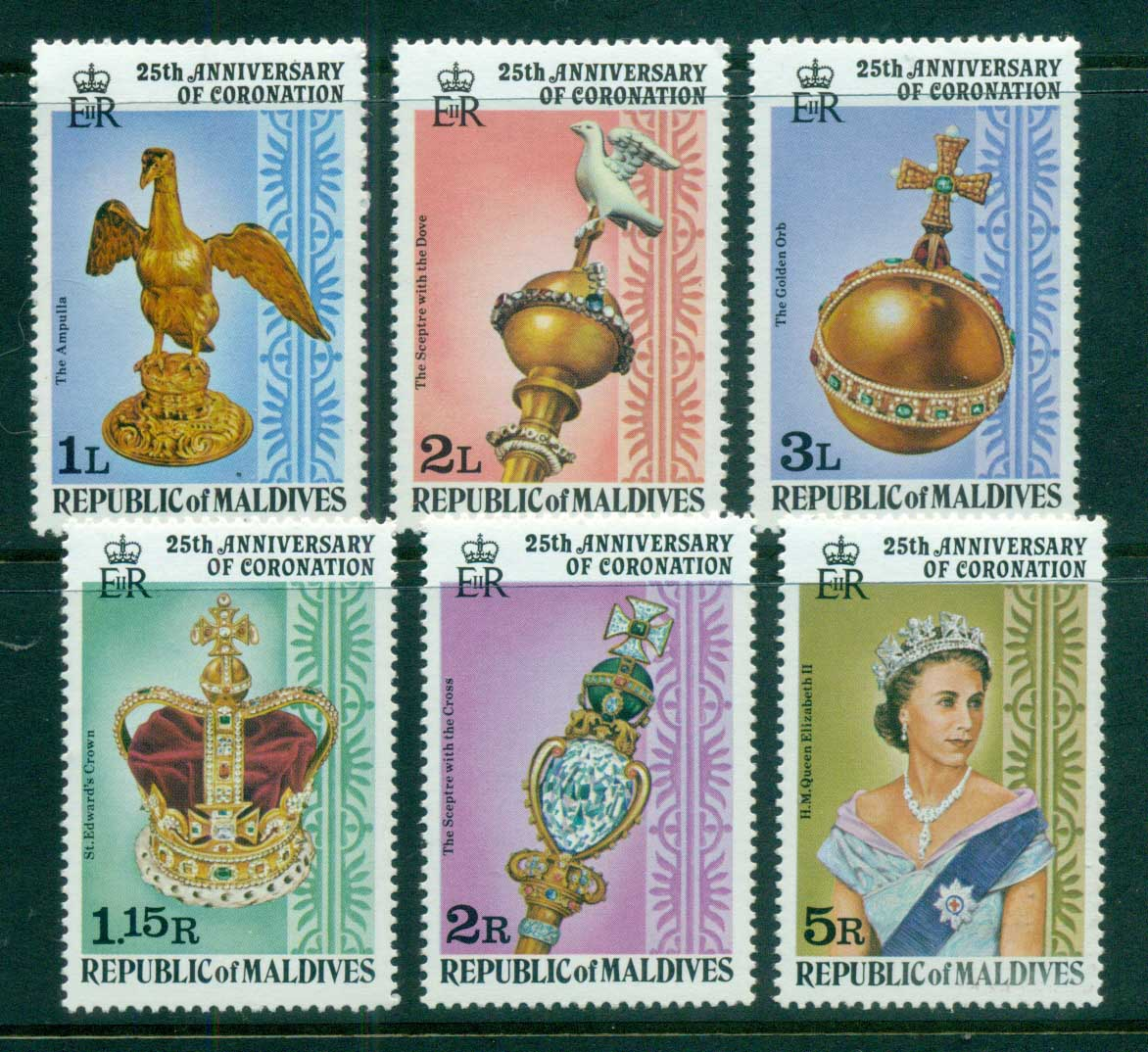 Maldive Is 1978 QEII Coronation, 25th Anniversary , Royalty MUH