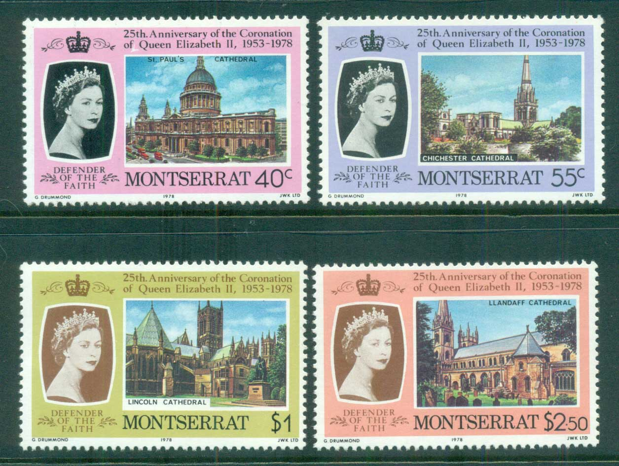 Montserrat 1978 QEII Coronation, 25th Anniversary , Royalty MUH