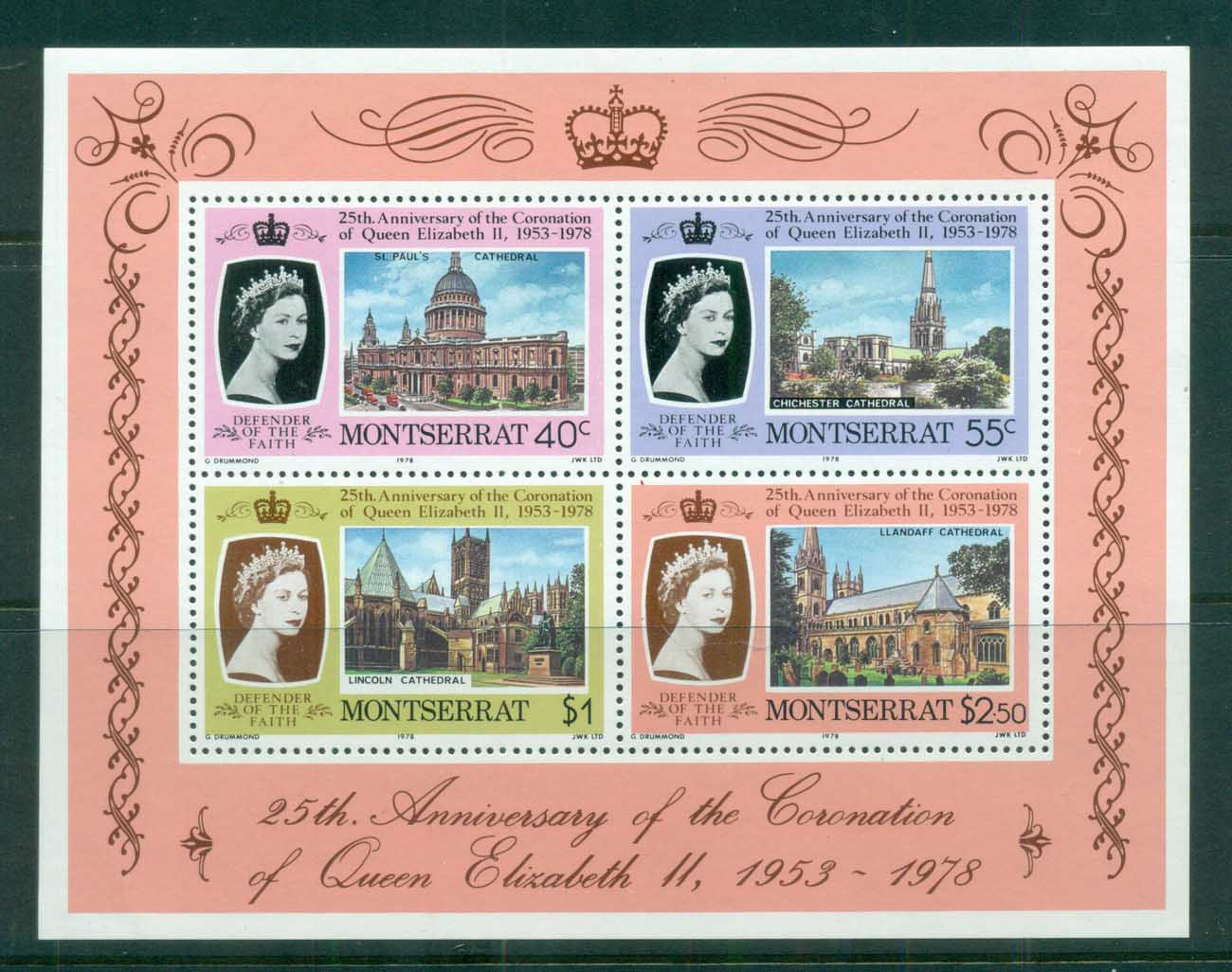 Montserrat 1978 QEII Coronation, 25th Anniversary , Royalty MS MUH