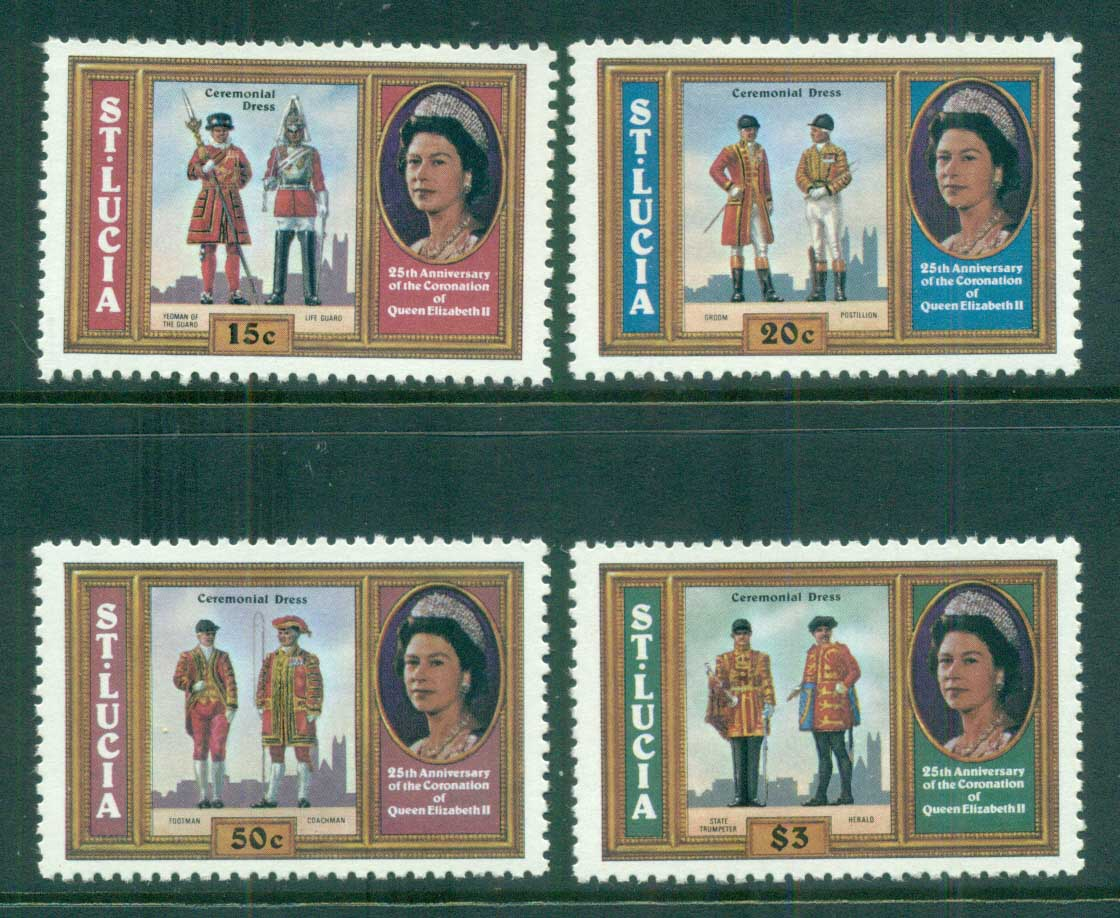 St Lucia 1978 QEII Coronation, 25th Anniversary , Royalty MUH