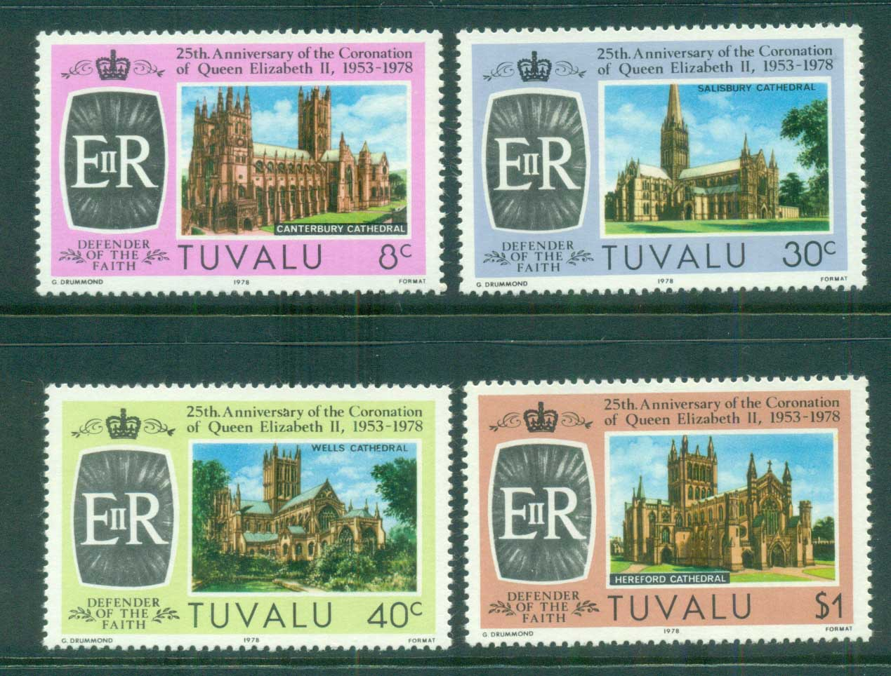 Tuvalu 1978 QEII Coronation, 25th Anniversary , Royalty MUH