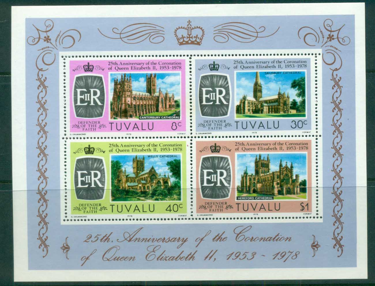 Tuvalu 1978 QEII Coronation, 25th Anniversary , Royalty MS MUH