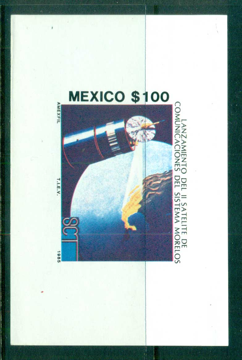 Mexico 1985 Space Satellite, Moreles MS MUH