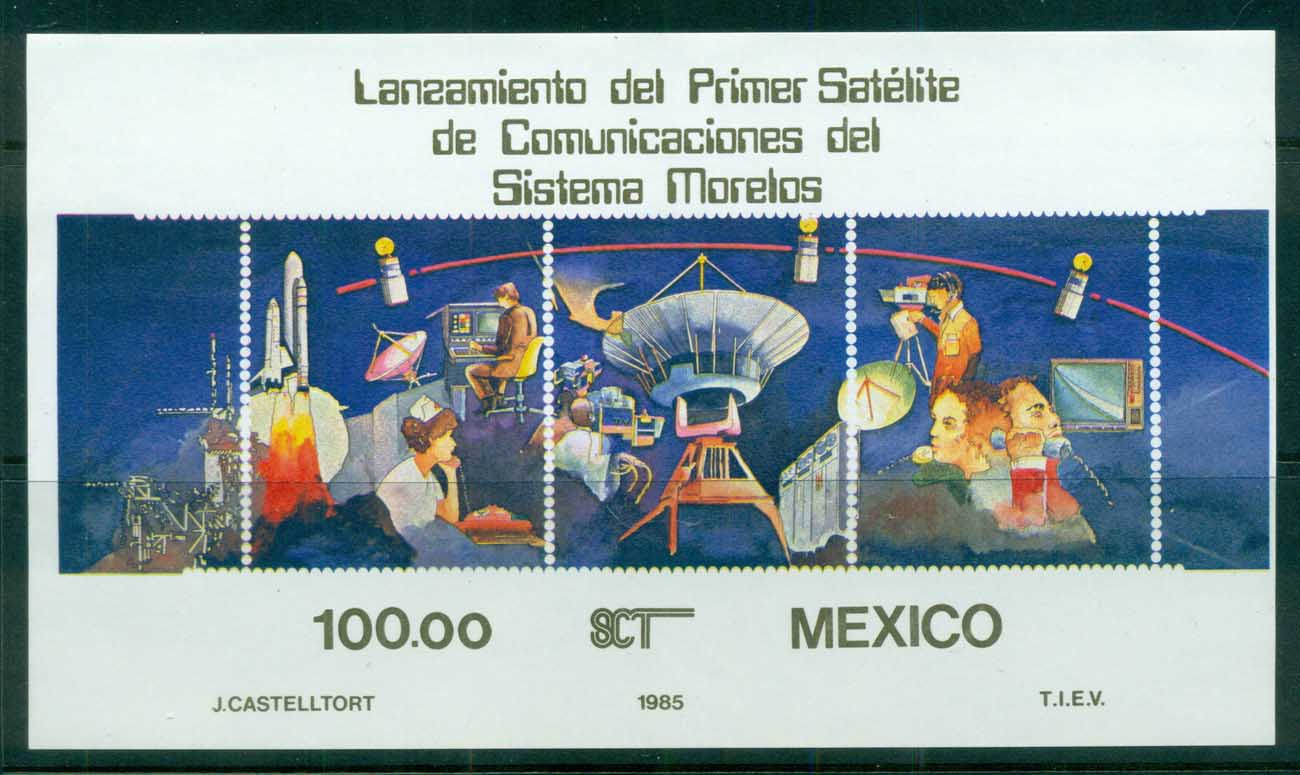 Mexico 1985 Space Satellite, Moreles IMPERF MS MUH