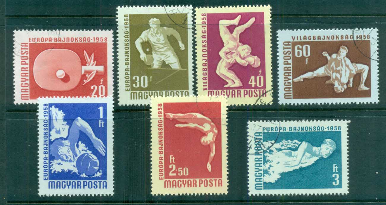 Hungary 1958 Swimming & Table Tennis CTO