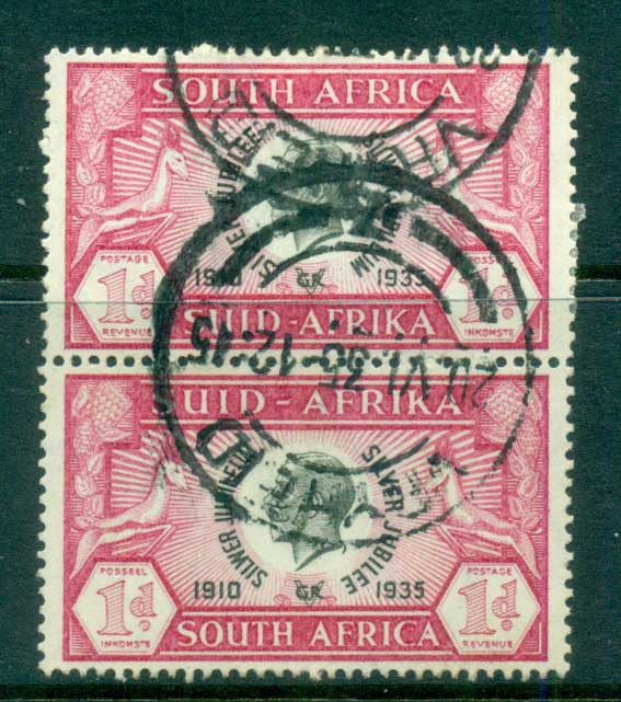 South Africa 1935 Silver Jubliee 1d pair FU