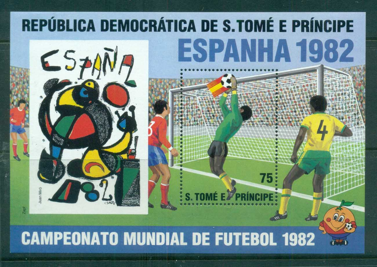 Sao Tome et Principe 1982 World Cup Soccer, Spain MS MUH