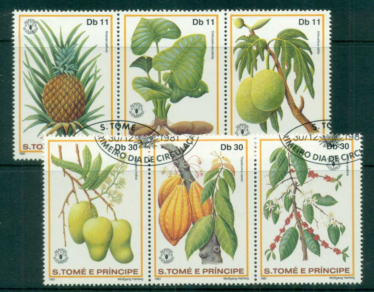Sao Tome et Principe 1981 World Food Day, Plants, Fruit 2xstr3 CTO