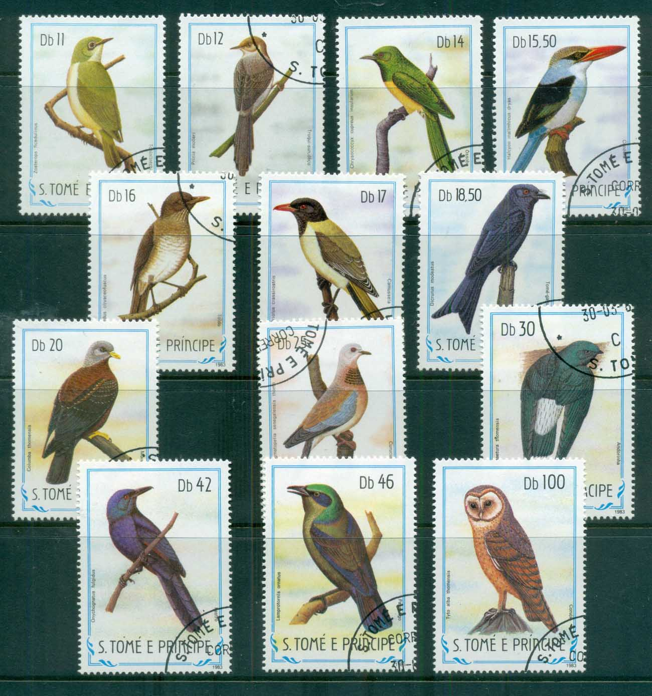Sao Tome et Principe 1983 Birds (13/22, no low values 50c-10db CTO