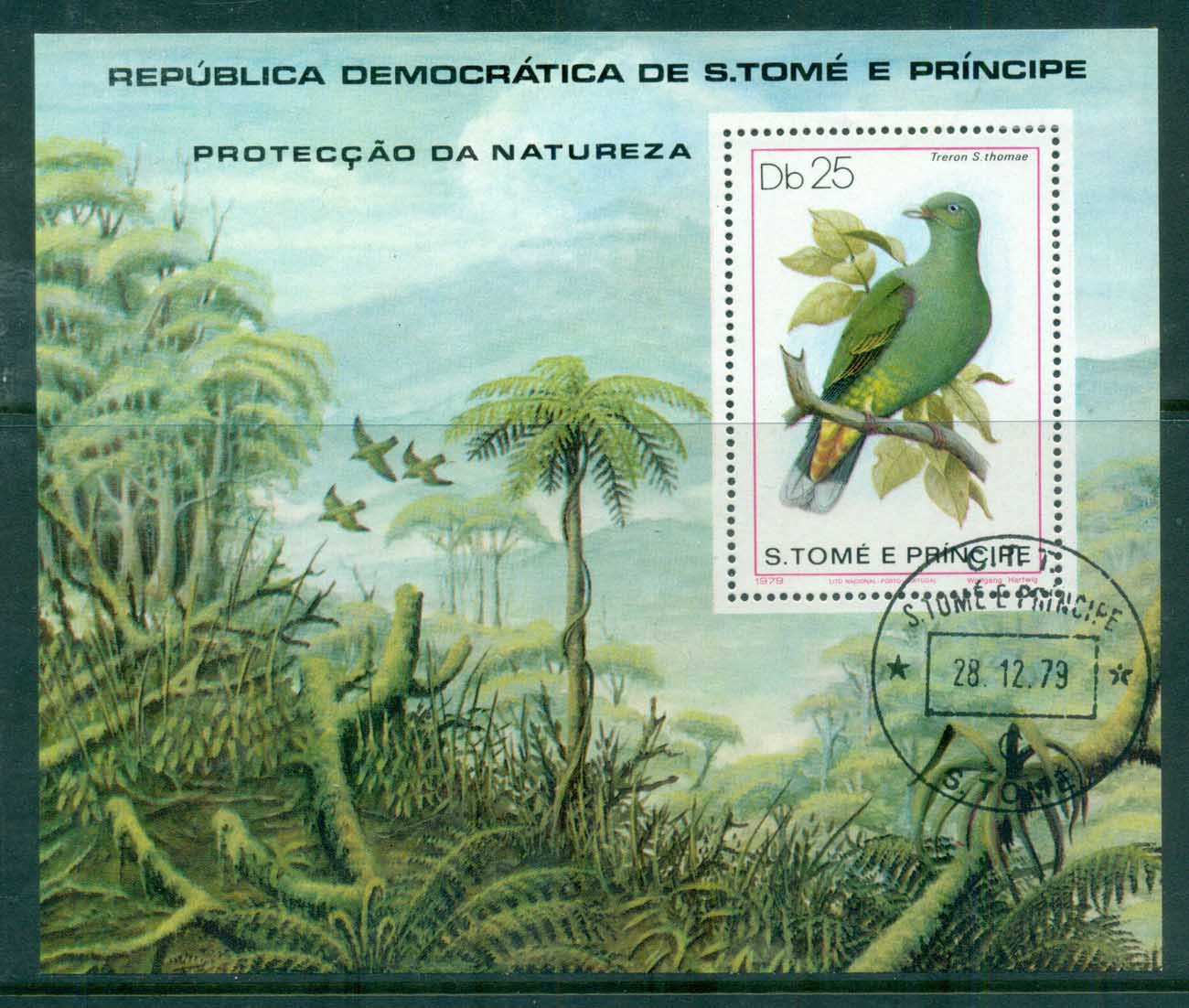 Sao Tome et Principe 1979 Nature Protection, Birds MS CTO