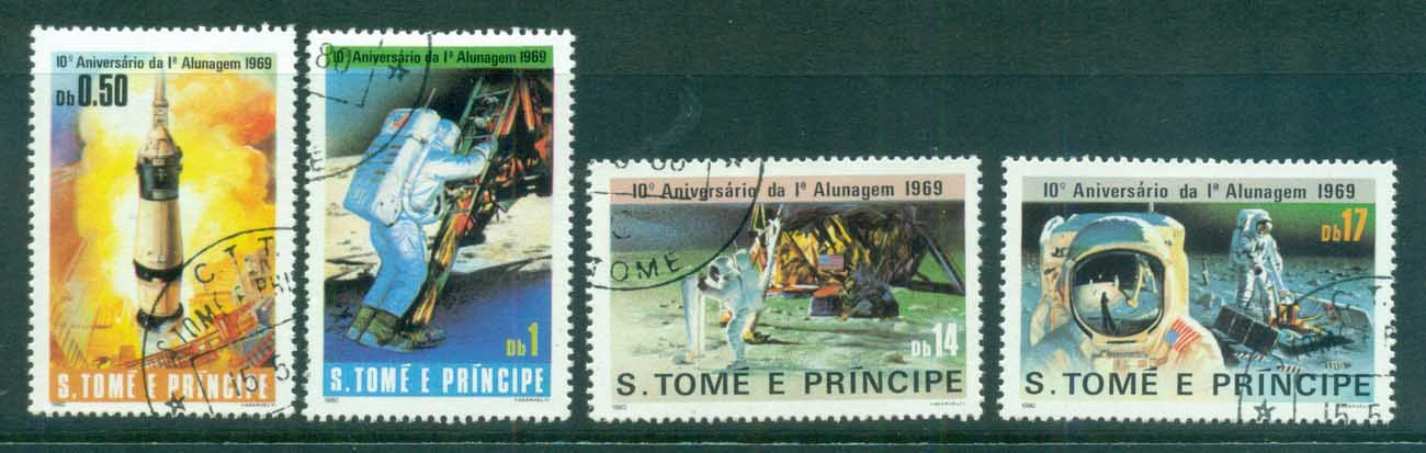 Sao Tome et Principe 1980 Apollo 11 Space Mission, Moon Landing CTO