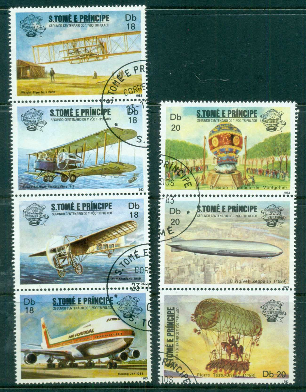 Sao Tome et Principe 1983 Manned Flight Bicentenary Str 3,4 CTO