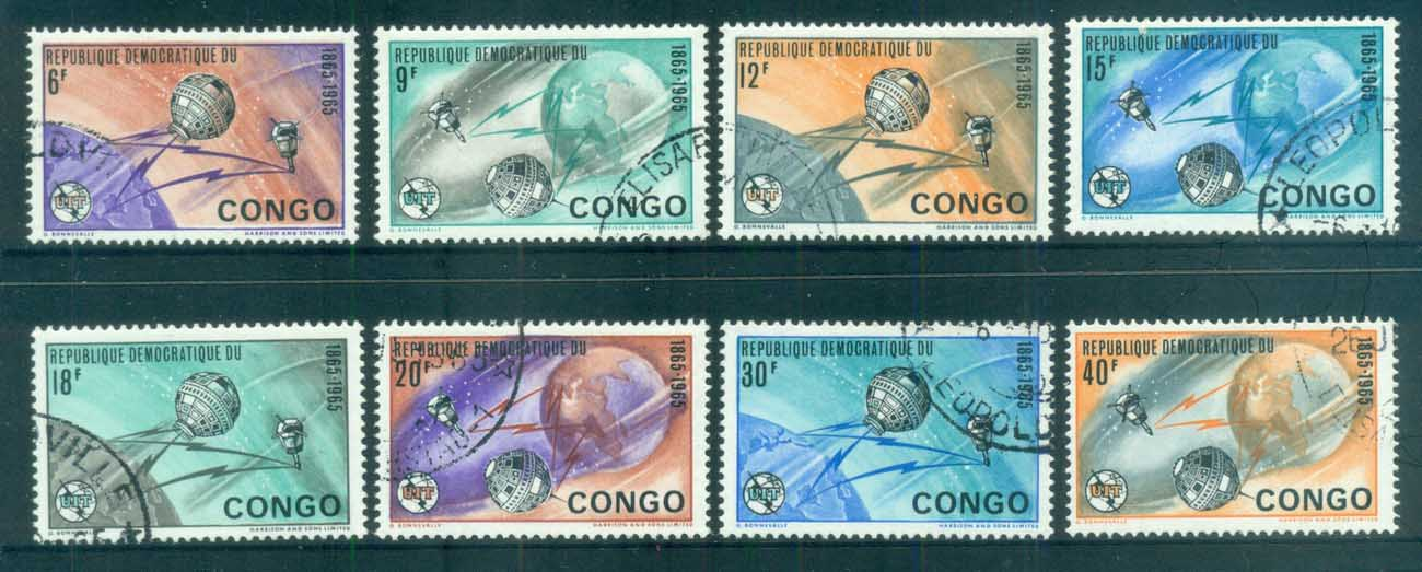 Congo DR 1965 ITU Centenary, Earth & Satellites CTO