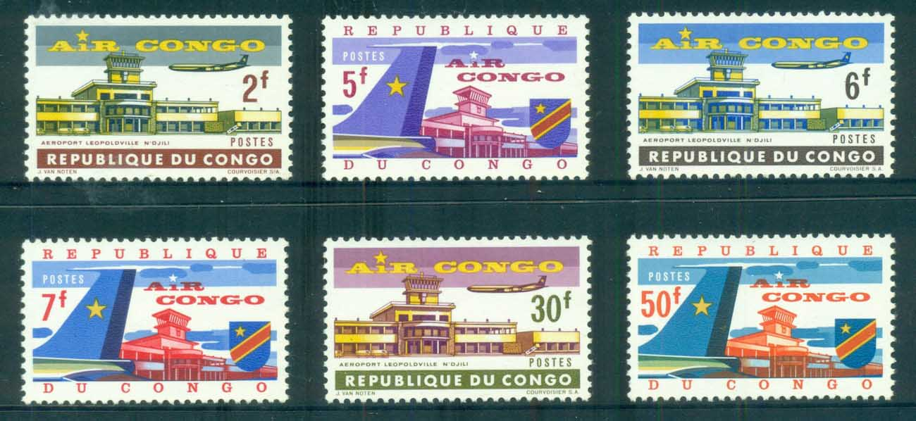Congo DR 1963 Air Congo Leopoldville Airport N'Djili MUH