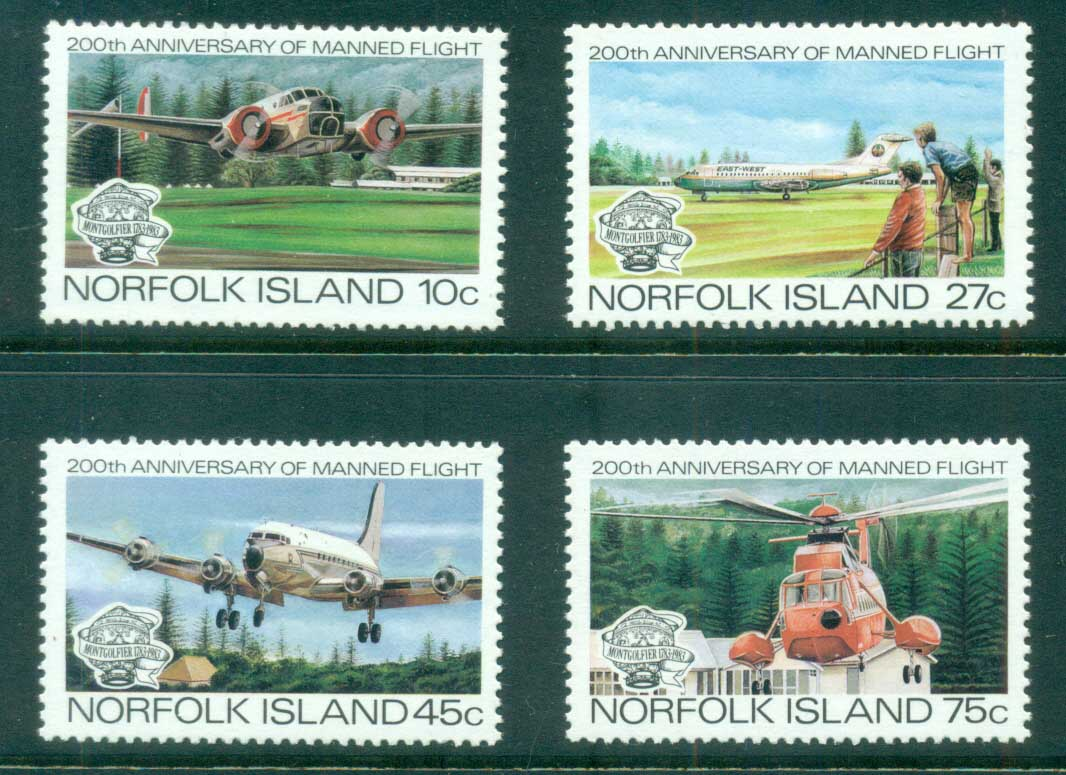 Norfolk Is 1983 Manned Flight Bicentenary MUH