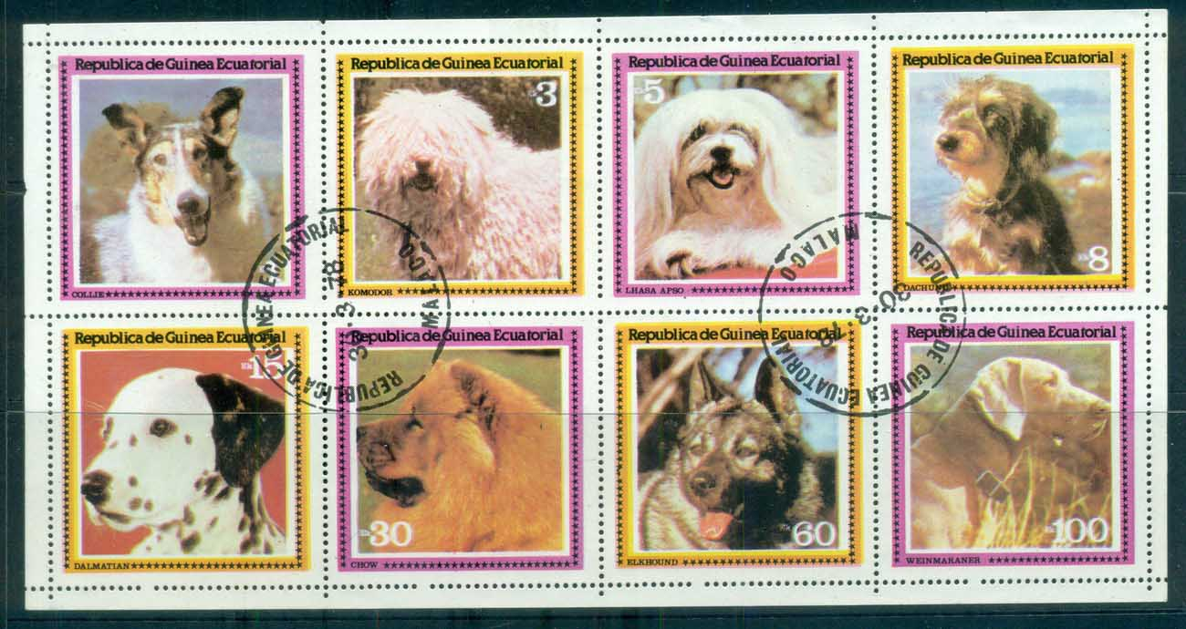 Equatorial Guinea 1978 Dogs MS CTO