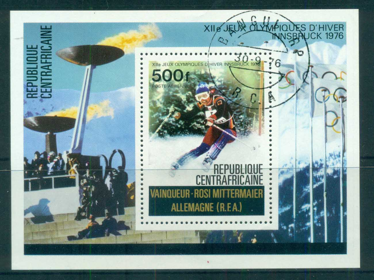 Central African Republic 1976 Winter Olympics, Innsbruck MS CTO